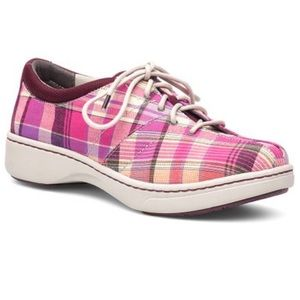 Dansko Pink Madras Brandi Walking Shoes Sz EU 41